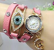 Women Watch Bohemia Bracelets New Moon Eye Fashion Crystal Watch