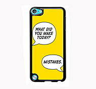 Make Mistakes Design Aluminum High Quality Case for iPod Touch 5