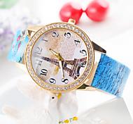 reloj de diamantes de punk europa y los estados unidos de la torre Eiffel de la venta caliente damas