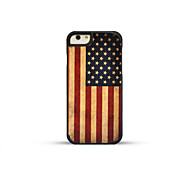 GMZS Wooden Case  US Flag Bamboo Back Cover for iPhone6