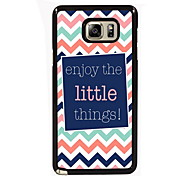 Enjoy The Little Things Design Slim Metal Back Case for Samsung Galaxy Note 3/Note 4/Note 5/Note 5 edge