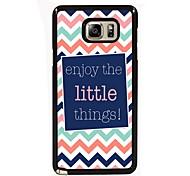 geniet van de kleine dingen te ontwerpen slanke metalen achterkant van de behuizing voor Samsung Galaxy Note 3 / noot 4 / note 5 / note 5