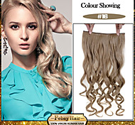 5 Clips Wavy Golden Blonde (#16) Synthetic Hair Clip In Hair Extensions For Ladies more colors available