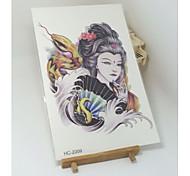 Tatuaggi adesivi - Serie animali / Altro - Brand New - Da donna / Da uomo / Adulto / Teen - 1 - Modello - di Carta - 12cm(W)*19cm(L) -