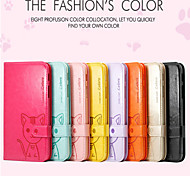 NEW..Leiers Do mi cat series cartoon leather  cover for Samsung Tab3Lite /T110/T111