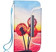 Dandelion Pattern Two-in-One PU Leather for iPhone 6