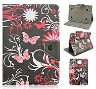 Schmetterlingsmuster Qualität PU-Leder mit Standplatzfall für 7-Zoll-Tablet-universal