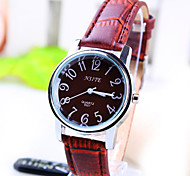 Women's Business Simple Round Dial PC Movement Leather Strap Fashion Quartz Watch (Assorted Colors)