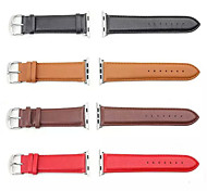 Luxury Leather Wearables Straps 42mm Watch Band with Silver Metal Adapters for Apple Watch (Assorted Colors)