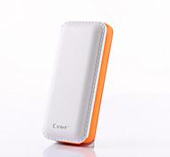 estereotipador B069 5000mAh de energía móvil banco cargador portátil construido en el cable micro USB para el iPhone, Samsung, teléfono