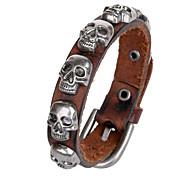 Punk Style Genuine Leather Lower Price Bracelet(Brown)(1Pc)