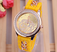 diamond watch new fashion 4colors  simple dial silicone strap Women's watch fashion Women's quartz watch