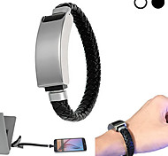 Cwxuan™ Stainless Steel+Knitted PU Leather Micro USB to USB 2.0 Cable for cellphone and Portable Device (23cm)