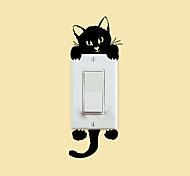 наклейки для стен стены наклейки наклейки стиль котенок переключатель стены PVC