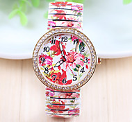 Xu™ Women's Printed  With Diamonds Stretch Belt Quartz Watch Cool Watches Unique Watches Fashion Watch