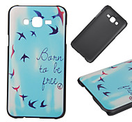 Born To Be Free Pattern PC Hard Back Cover Case for Samsung Galaxy J5/J7