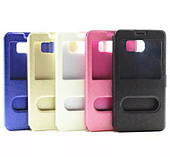 Flip Case Double Opening Window Japan And South Korea fashion Pu Mobile Phone Shell for Samsung Note 5 Assorted Colors
