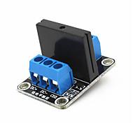 1-Kanal 5V 240v 2a ssr Solid-State-Relais hohe Trigger-Modul - Schwarz + Blau