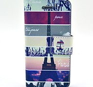 Painted PU Leather Flip Phone Case Cover with Stand for iPhone 4/4S