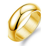 Stainless Steel Plating 24 K Gold Men's Ring