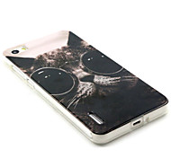 Glasses Cat Pattern TPU and IMD Phone Case For Huawei Honor 6