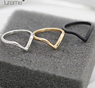 Lureme®Europestyle Brief Individuality V Shape Joint Alloy  Rings