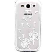Vogel Löwenzahn Muster TPU Acryl weiche Tasche für Samsung-Galaxie S3 / S4-Galaxie / galaxy s5 / galaxy S6 / S6 Galaxie Rand