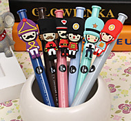 2pcs British Soldier Ball Pen Ballpoint Pen Student Ballpoint Novelty Pen(Random Color)