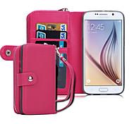 для Samsung Galaxy случае s8 плюса бумажника случае полный корпусного сплошного цвет ПУ кожи Samsung s6 края s6 S8