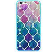 Baby Blue Diamond Design TPU Acrylic Soft Case for iPhone 6 4.7Inch