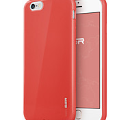 ESR® Yippee Colour Series Perfect Fit Ultra Thin Light Weight Soft TPU Bumper Case for iPhone 6- Red