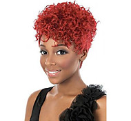 Capless New Arrival Red Color Short Kinky Curly Hair Wigs for Daily Natural Synthetic Wig Sexy  Party Wigs Cosplay Wig