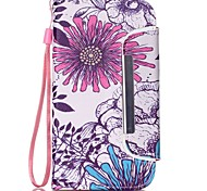 Blumen-Muster zwei-in-one-PU-Leder für Samsung-Galaxie s5 s4 s4mini