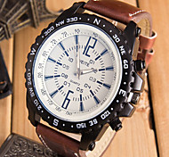 High Quality Weite Watches Men Luxury Brand Quartz Watches Leather Strap Military Watch Relogio Masculino Wrist Watch Cool Watch Unique Watch
