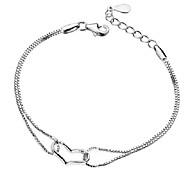 Diamond Heart Pattern Metallic With Artificial Diamond Bracelet(1pc)