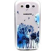bule Löwenzahn Muster TPU Acryl weiche Tasche für Samsung-Galaxie S3 / S4-Galaxie / galaxy s5 / galaxy S6 / S6 Galaxie Rand