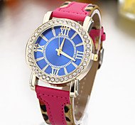 Women's Fashion Personality Ms. Dial PU Leopard Watches
