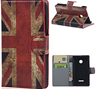 Retro UK Flag Wallet Leather With Card Slots Flip Cover Case For Microsoft  Nokia Lumia 435 Phone Bags Cases
