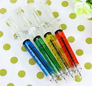 New 4Pcs Doctor Nurse Gift Liquid Syringe Injection Ballpoint Pen Ballpen(Random Color)