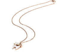 Lazy Cat Stainless Steel with Cowry Pendant Necklaces