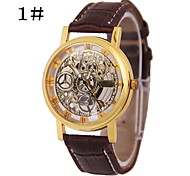 The New Men's Fashion Simple Hollow Carved Circular Belt China Watch Movement(Assorted Colors)