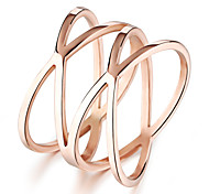 Ms Stainless Steel Plating 24 K Rose Gold Ring