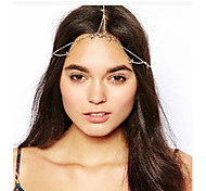 European Style Stars Alloy Hair Chain(Gold)(1Pc)
