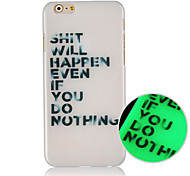 English Pattern Luminous Back Case Cover for iphone5C