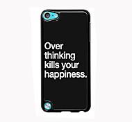 plus penser design en aluminium cas de haute qualité pour iPod touch 5