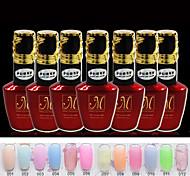 candy Farbe UVgelNagellack (15 ml) lang anhaltende Nagellack Gel-Lack 12 Farben für wählen