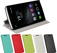 Newest Flip Case Window Stand Open On Right pu Mobile Phone Shell for one plus One Assorted Colors