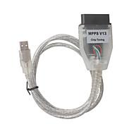 MPPS V13.02 Chip Tuning MPPS V13 K CAN Flasher ECU Chip Turning Tool OBDII  Interface