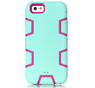 Light Green Silicone PC Triple Phone Case for iPhone 6 (Assorted Colors)