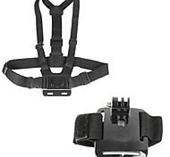 2-in-1 GoPro accessorio kit petto cinghia di polso per GoPro Hero4 / 3 + / 3/2/1